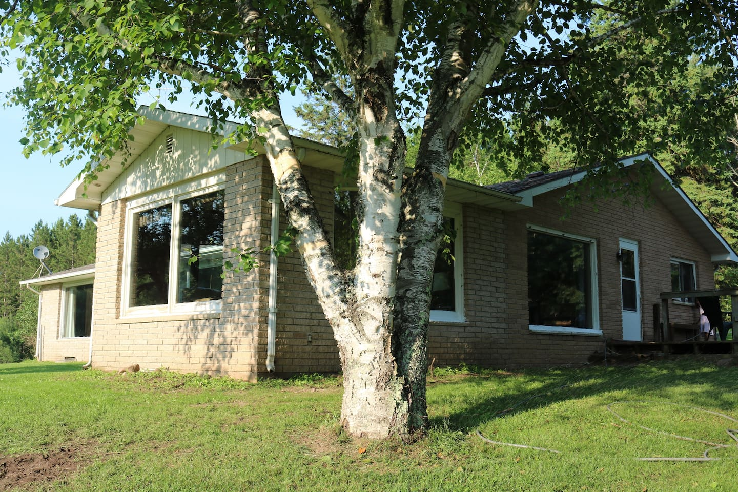 Large windows overlooking the yard and 14 acre property