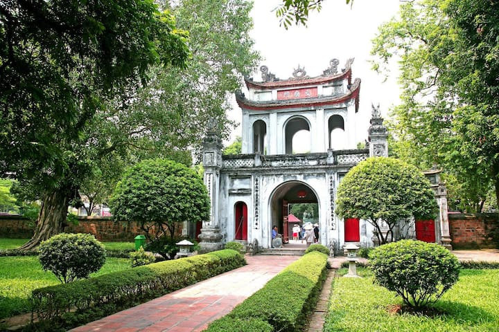 Temple Of Literature - Quoc Tu Giam: 58 Quoc Tu Giam street - 15 minutes from our house by motobike