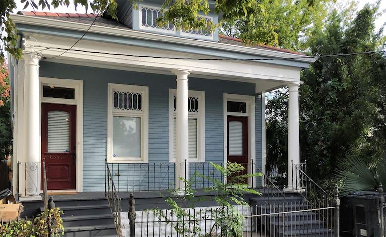 Historic shotgun home, peaceful neighborhood and recently renovated