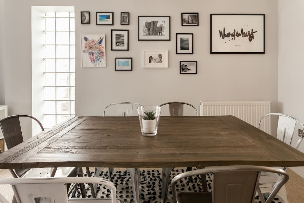 Enjoy meals at the chic dining table