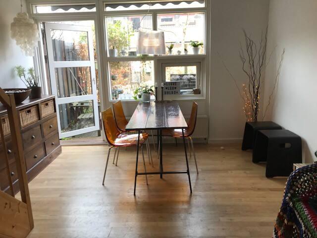 Ground floor: Living room, dining area