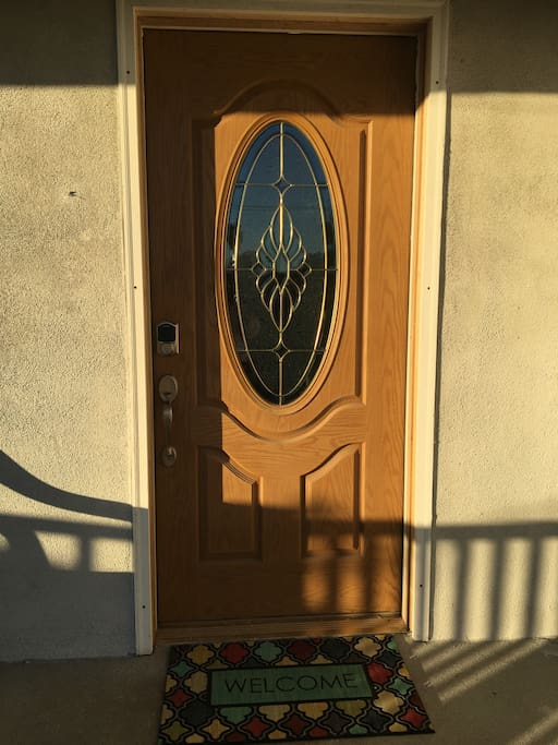 Front door at entry.