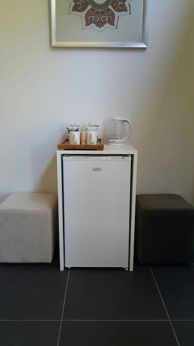 Bar Fridge and coffee/tea making facilities