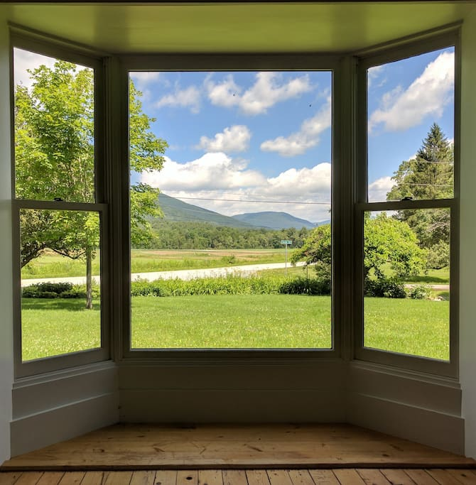 Livingroom view. Taconic Mountains