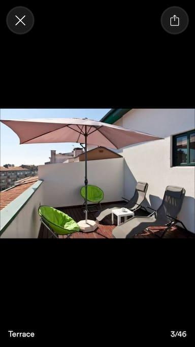 la terrasse solarium
