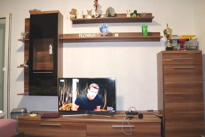 Inside room and TV