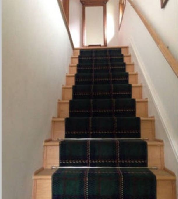 Stairs to guest rooms
