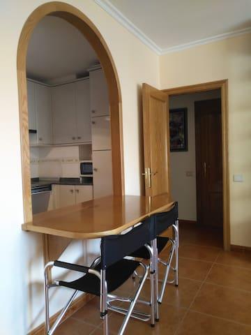 Apartamento en Foz, a 300 m. de  playa Rapadoira.
