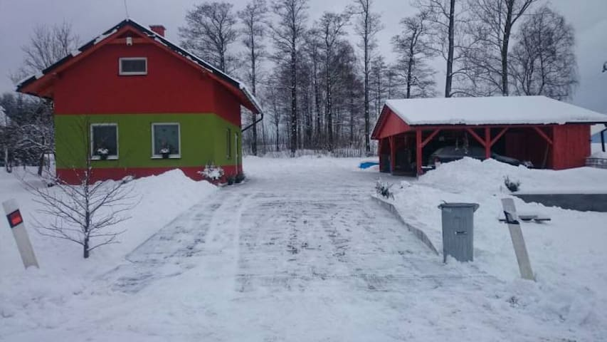 Chata u Huberta s finskou saunou - Štíty - Maison
