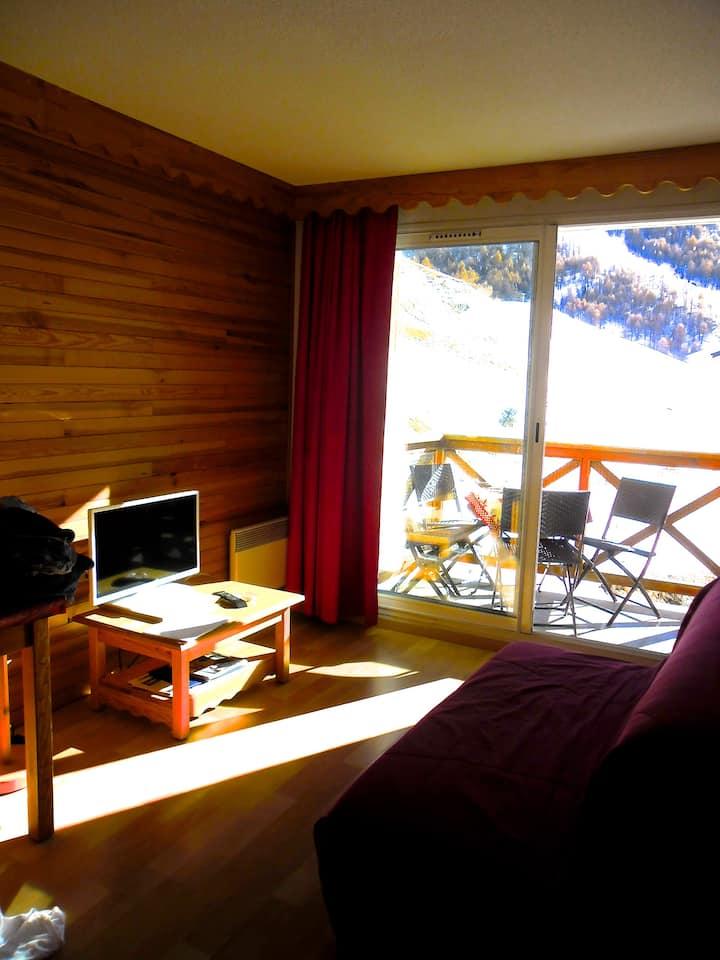 appartement ski  2 pieces 4 pers à La Foux D'Allos