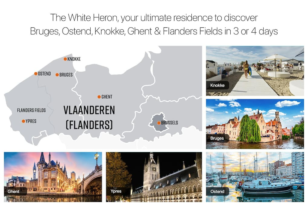 The white heron, your ultimate residence tot discover Flanders