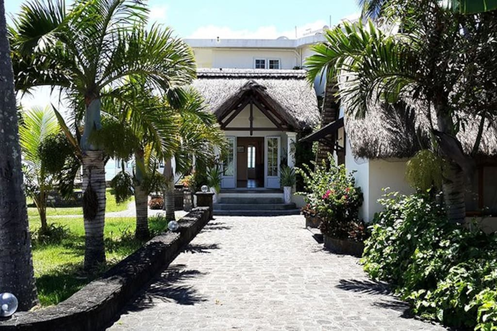 L'entrée de la guesthouse