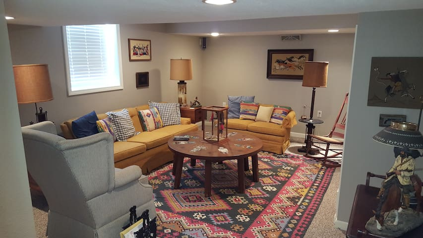 Large, comfortable, private living room.