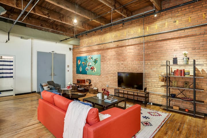 One of a Kind Spacious Industrial Downtown Loft