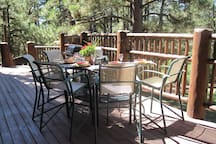 experience outdoor dining at its best on huge deck