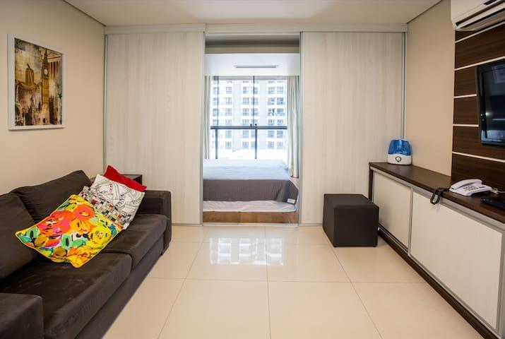 Moderno e aconchegante Flat no coração de Brasília