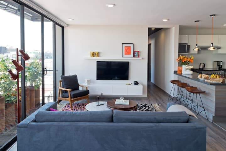 Unique 4BR apt with private rooftop in a calm st