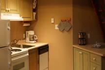 Opposite kitchen panorama