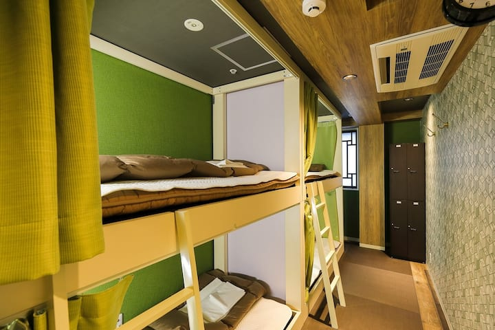 KOBE Private Room for 4person/Shared bathroom #202