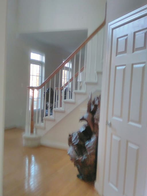 Front Entrance, stair accessing rooms