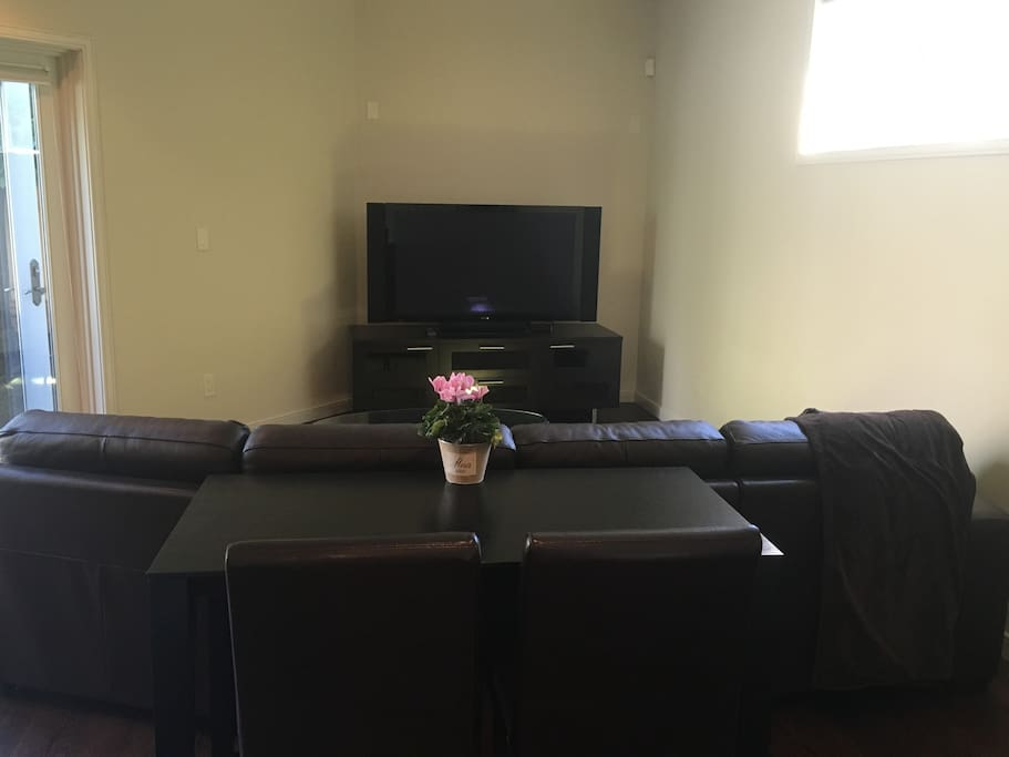 Living room and small dining table