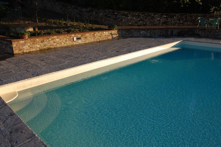 Another angle of the private pool