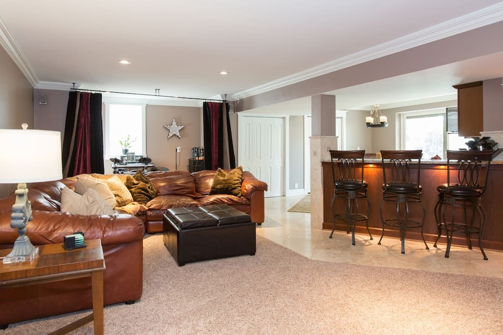 Regency walk out basement suite guest suites for rent in for House with inlaw suite for rent