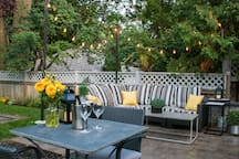 Guests are welcome to enjoy our private back patio