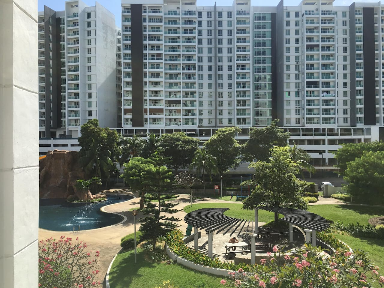 Communal garden + swimming pool