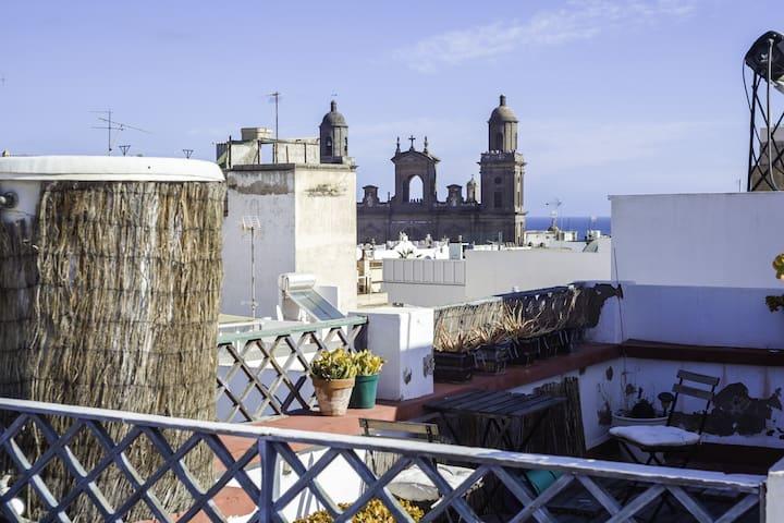Casa San Marcial - Terrace Room Tatiana
