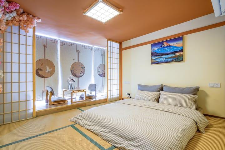 【时光里】富士山下|和风|日式一房|投影|城市中心|北师大北理工|明珠站|长隆|高档小区|长住优惠
