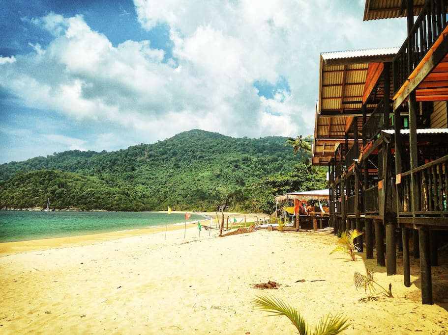 Juara beach at tim beach hut