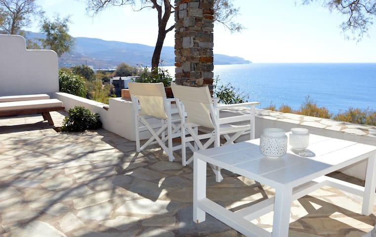Dream vacations at a unique stone house in Kea