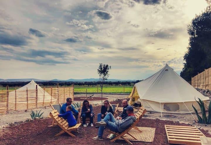 Campamento con estilo y comodidad en San Miguel