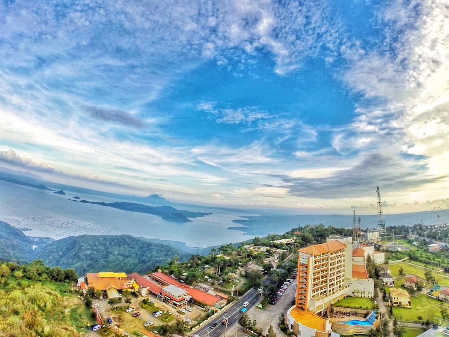 Panoramic view of Taal (from the viewing Deck)