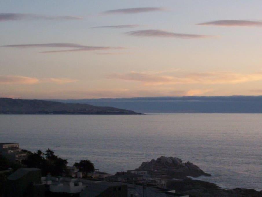 vista al mar desde depto