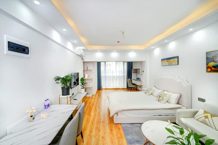 方特梦幻王国,高铁站,万达广场,大床房,酒店公寓,给您家的温暖