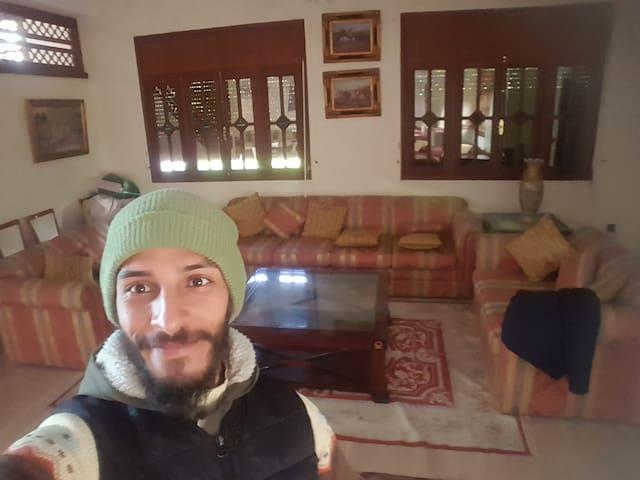 Je suis chez ma famille au maroc