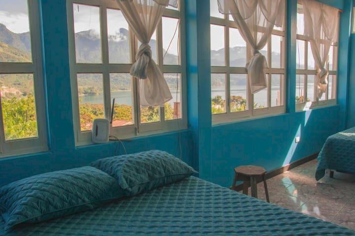 The Blue House in The Heart of San Juan la laguna