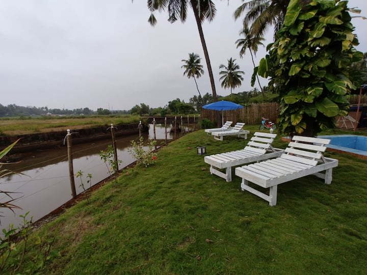 2 BHK independent river side villa with Pvt garden