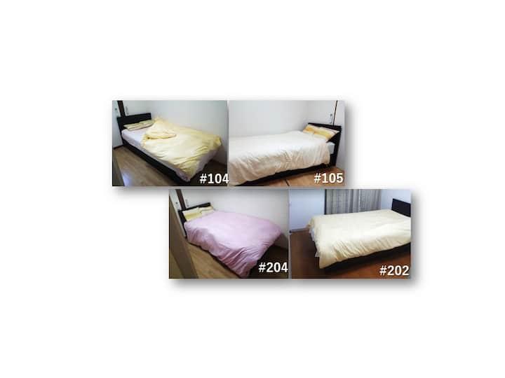 【EG-PA2】高級シングルベッドの個室【個室】その2(ベッド1台時に限り、2人目無料)