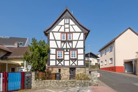 Fachwerkhaus accueillant au cœur d'un village allemand