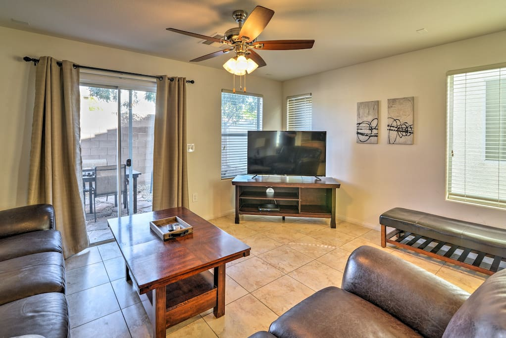 Inside offers 3 bedrooms, 2.5 bathrooms, and sleeping for 8.