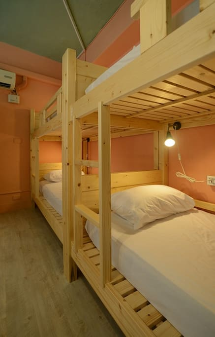 Our 8 beds suits, all beds coming with outlet plug, led lamp, comfortable mattress, comfy pillow, personal locker.