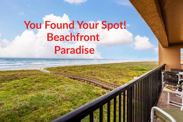 """Oct. Special"" 3BR Beachfront Ocean view Sleeps 10"