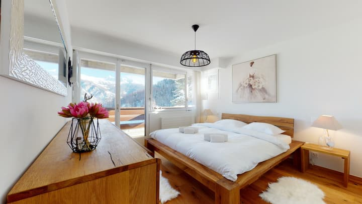 High standing apartment in Vercorin, 900m from the ski slopes