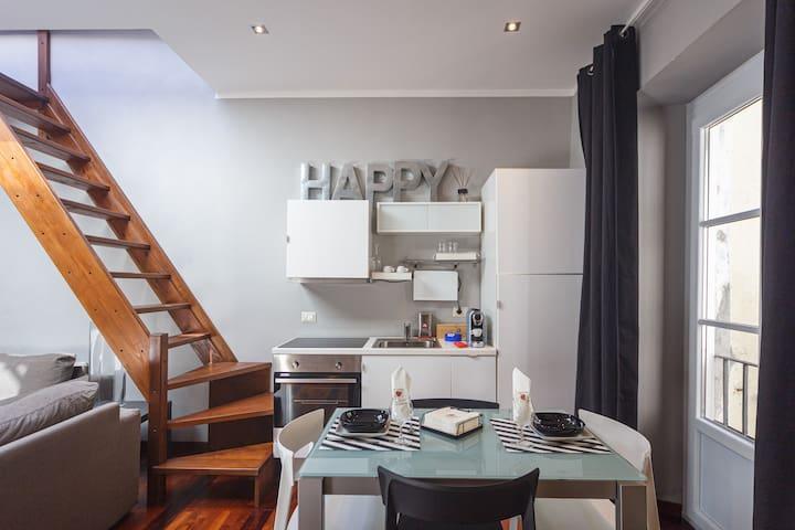 Appartamento 13 Porto Antico Suite Genova - Panoramica zona living