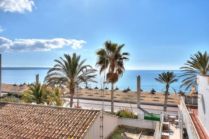 Veler House, Piso con terraza con vistas al mar al lado de la playa