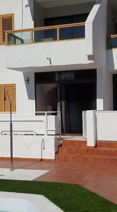 puerta de la terraza