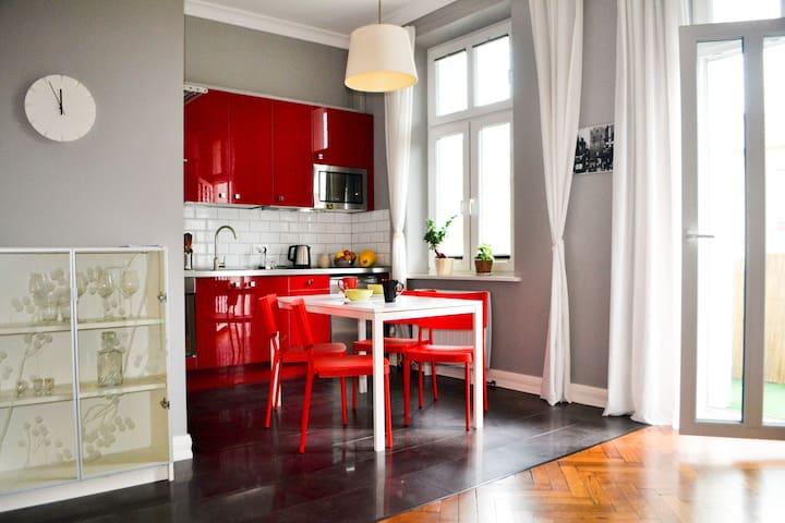 Klimatyczny apartament w kamienicy - Olsztyn - Apartament